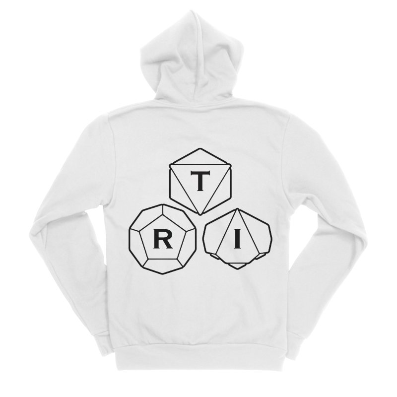 TRI Black Logo Women's Sponge Fleece Zip-Up Hoody by The Role Initiative's Artist Shop