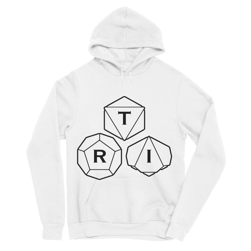 TRI Black Logo Women's Sponge Fleece Pullover Hoody by The Role Initiative's Artist Shop