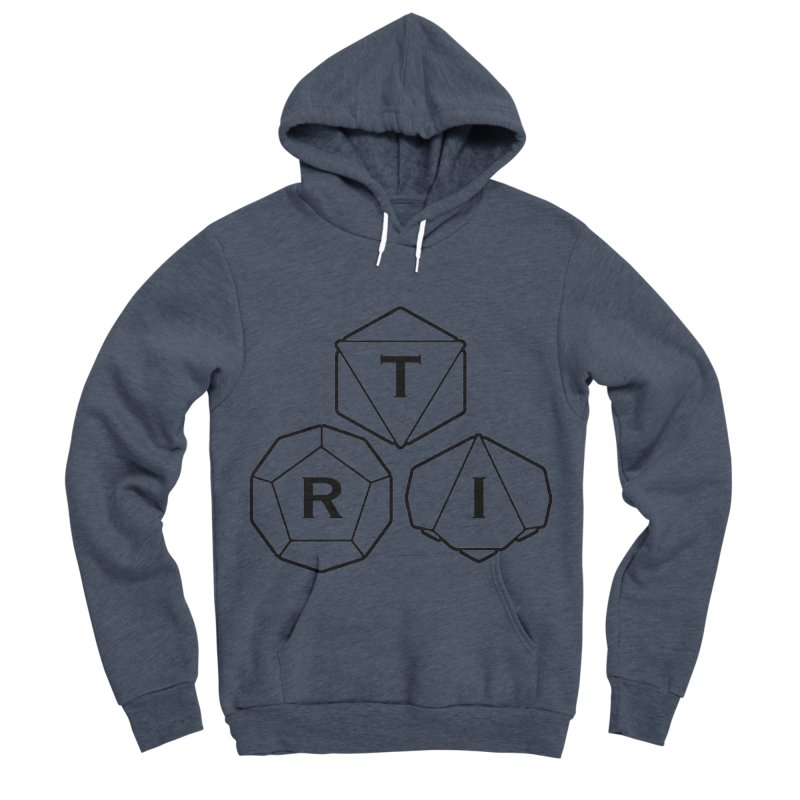TRI Black Logo Men's Sponge Fleece Pullover Hoody by The Role Initiative's Artist Shop
