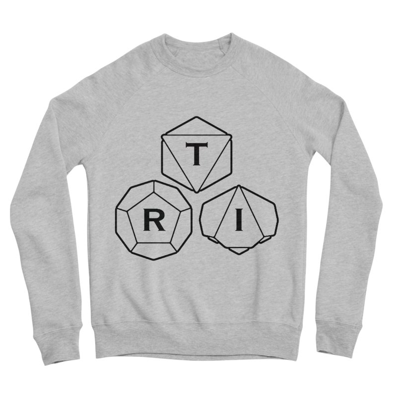 TRI Black Logo Men's Sponge Fleece Sweatshirt by The Role Initiative's Artist Shop
