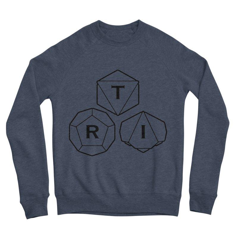 TRI Black Logo Women's Sponge Fleece Sweatshirt by The Role Initiative's Artist Shop