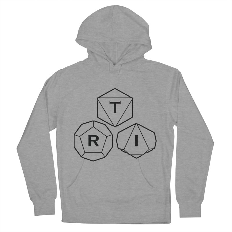 TRI Black Logo Women's French Terry Pullover Hoody by The Role Initiative's Artist Shop