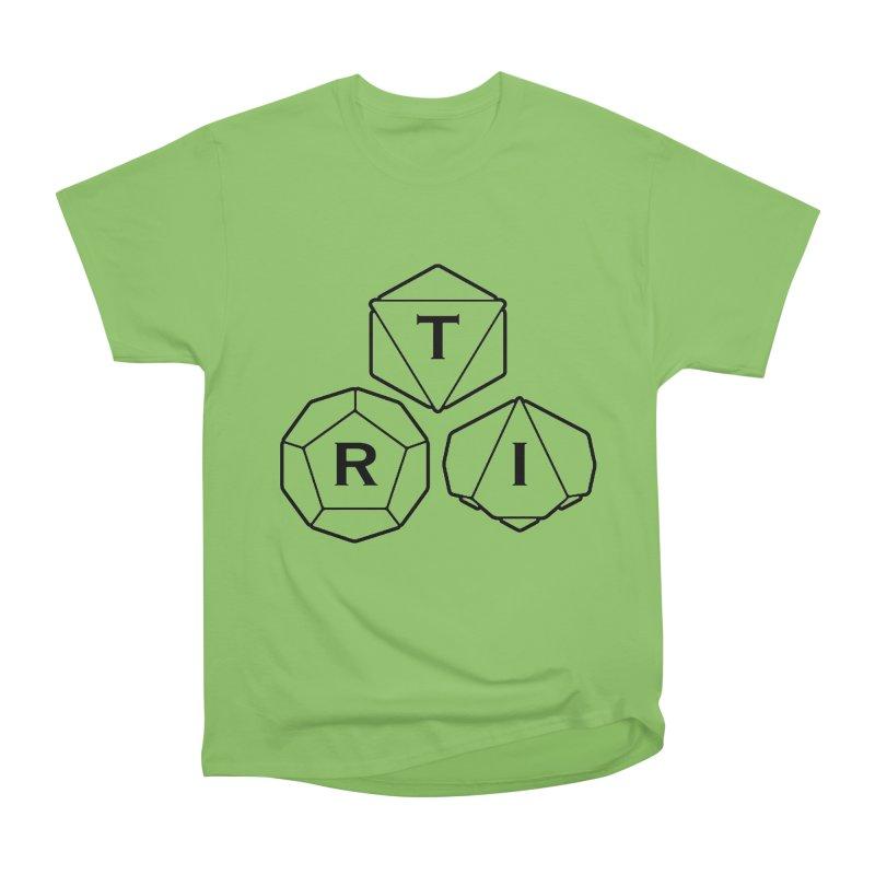 TRI Black Logo Women's Heavyweight Unisex T-Shirt by The Role Initiative's Artist Shop