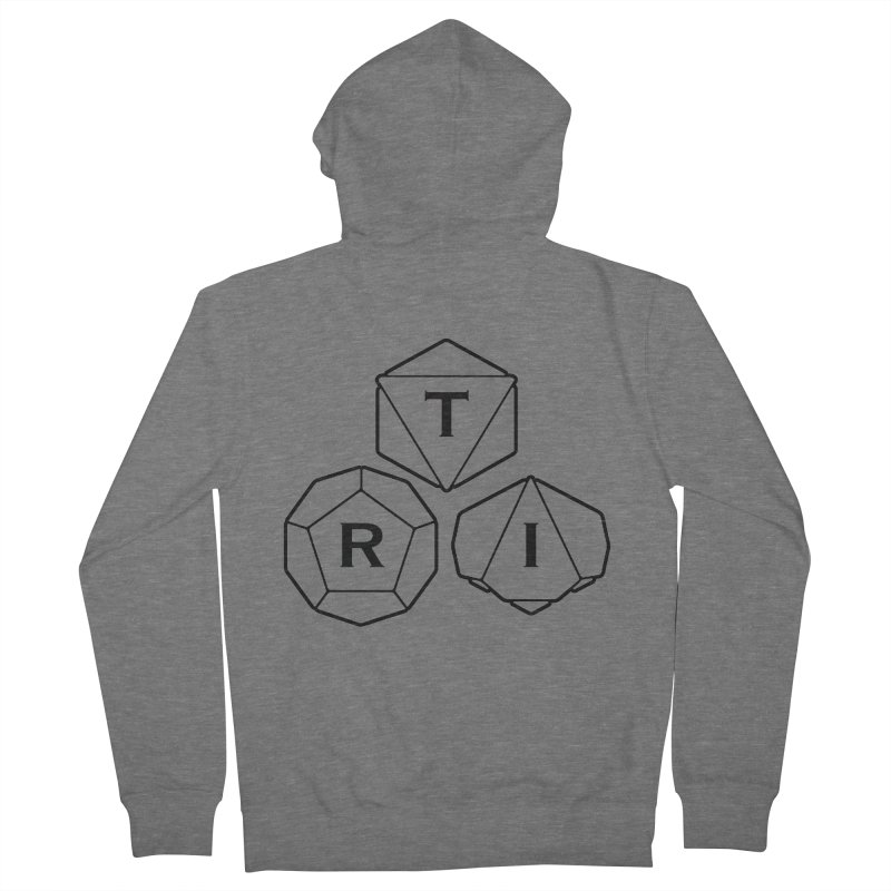 TRI Black Logo Women's Zip-Up Hoody by The Role Initiative's Artist Shop