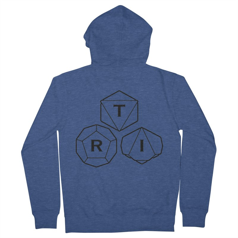 TRI Black Logo Men's French Terry Zip-Up Hoody by The Role Initiative's Artist Shop