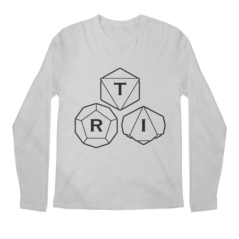 TRI Black Logo Men's Regular Longsleeve T-Shirt by The Role Initiative's Artist Shop