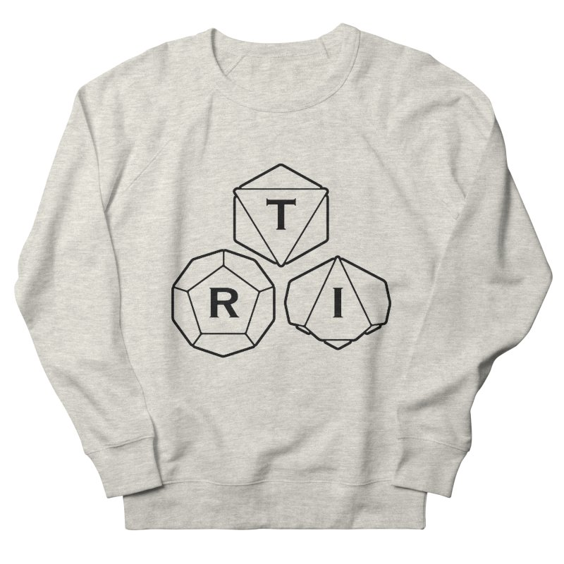 TRI Black Logo Women's French Terry Sweatshirt by The Role Initiative's Artist Shop
