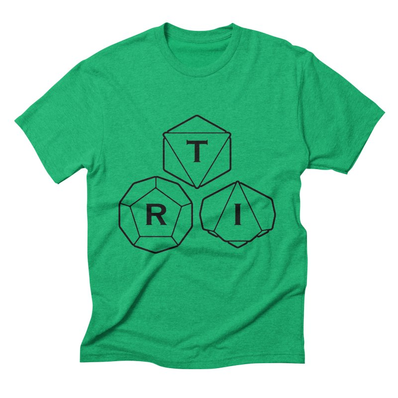 TRI Black Logo Men's Triblend T-Shirt by The Role Initiative's Artist Shop