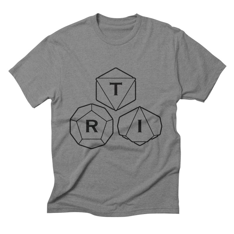 TRI Black Logo Men's Triblend T-Shirt by The Role Initiative's Artist Shop