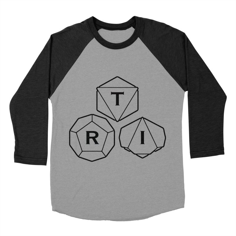 TRI Black Logo Women's Baseball Triblend Longsleeve T-Shirt by The Role Initiative's Artist Shop