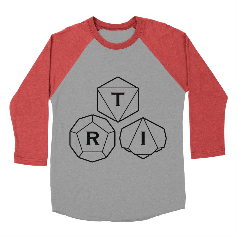 TRI Black Logo Men's Baseball Triblend Longsleeve T-Shirt by The Role Initiative's Artist Shop