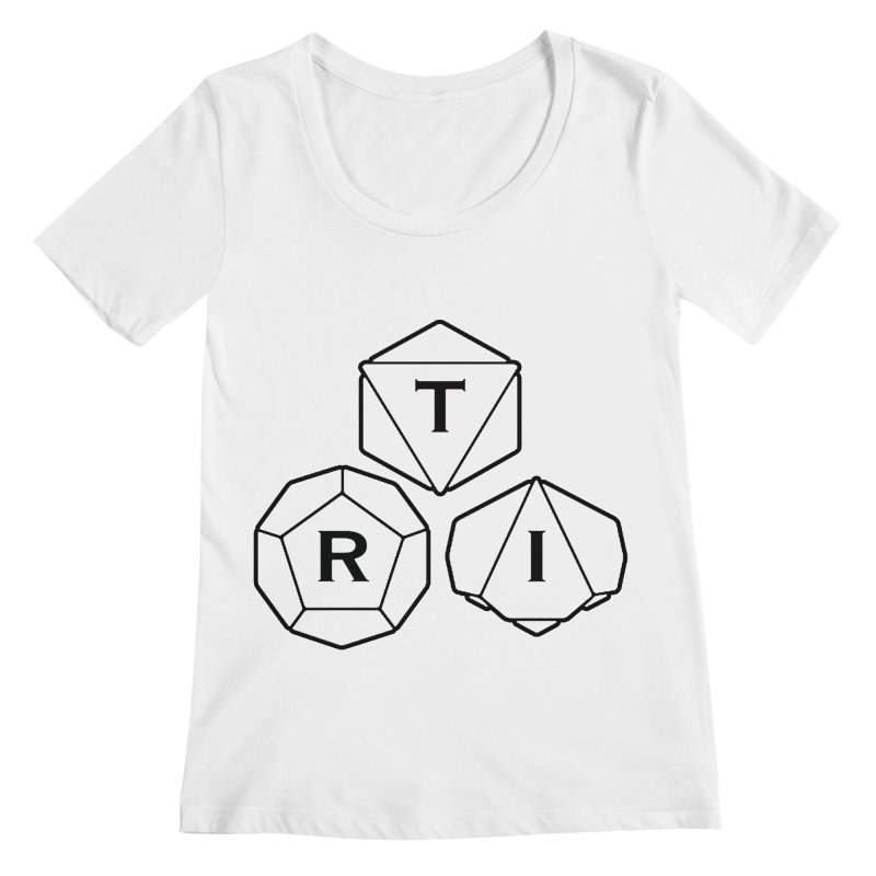 TRI Black Logo Women's Regular Scoop Neck by The Role Initiative's Artist Shop