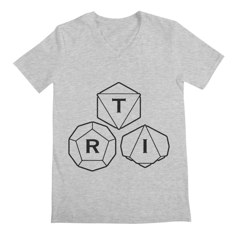 TRI Black Logo Men's Regular V-Neck by The Role Initiative's Artist Shop