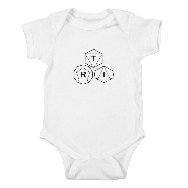 TRI Black Logo Kids Baby Bodysuit by The Role Initiative's Artist Shop