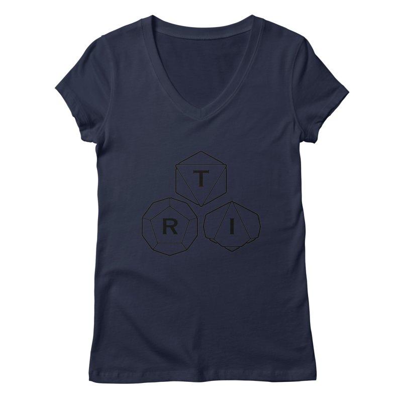 TRI Black Logo Women's V-Neck by The Role Initiative's Artist Shop