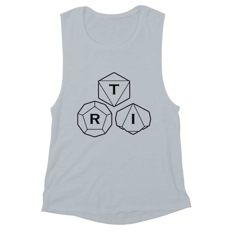 TRI Black Logo Women's Muscle Tank by The Role Initiative's Artist Shop