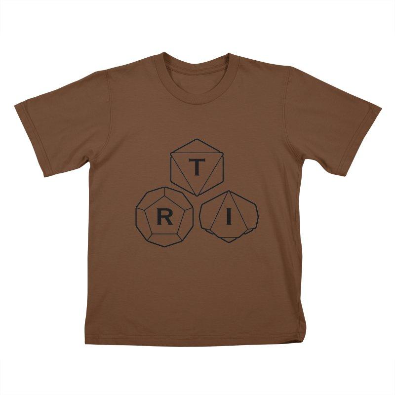 TRI Black Logo Kids T-Shirt by The Role Initiative's Artist Shop
