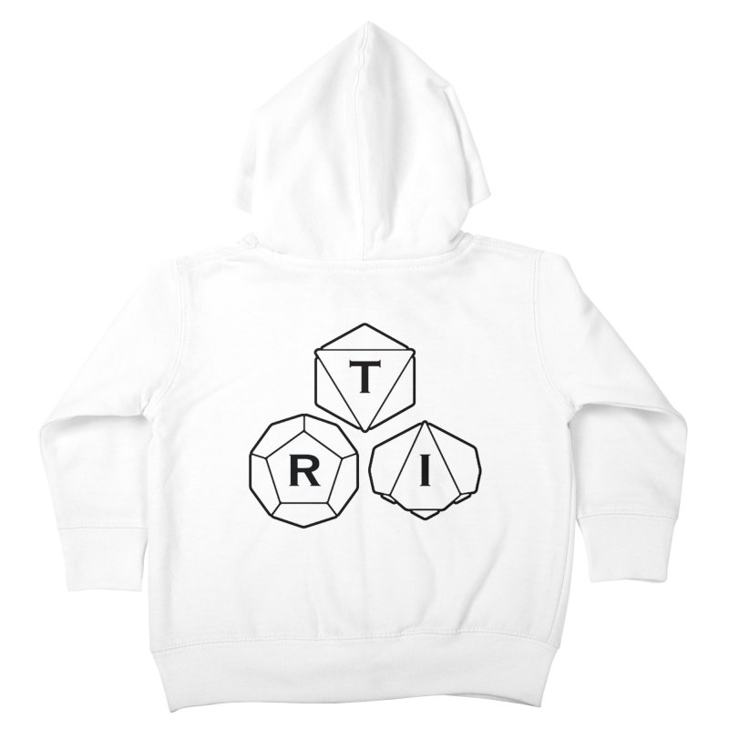 TRI Black Logo Kids Toddler Zip-Up Hoody by The Role Initiative's Artist Shop