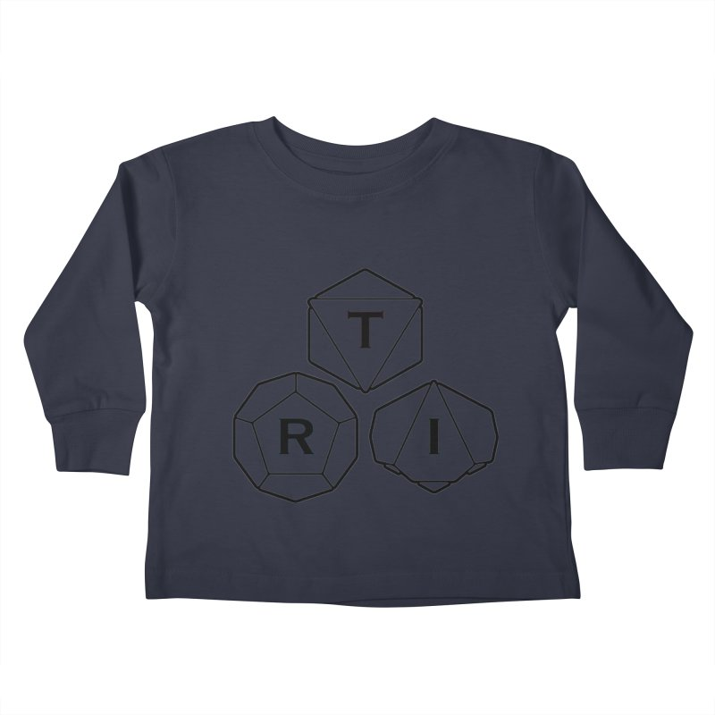 TRI Black Logo Kids Toddler Longsleeve T-Shirt by The Role Initiative's Artist Shop