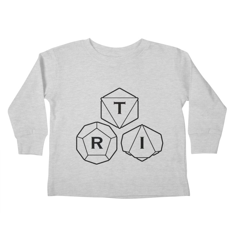 TRI Black Logo Kids Toddler Longsleeve T-Shirt by The Role Initiative's Artist Shop