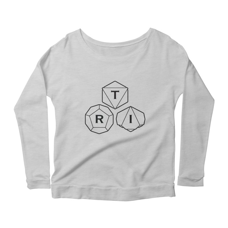 TRI Black Logo Women's Scoop Neck Longsleeve T-Shirt by The Role Initiative's Artist Shop