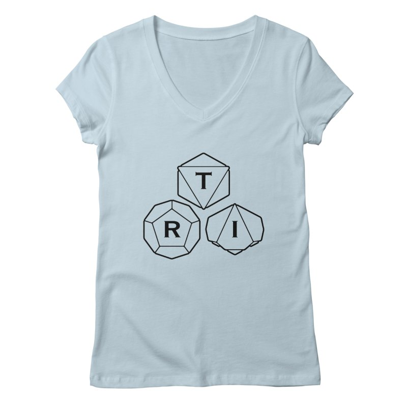TRI Black Logo Women's V-Neck by The Role Initiative's Artist Shop