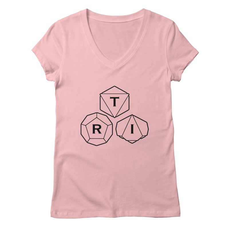 TRI Black Logo Women's Regular V-Neck by The Role Initiative's Artist Shop