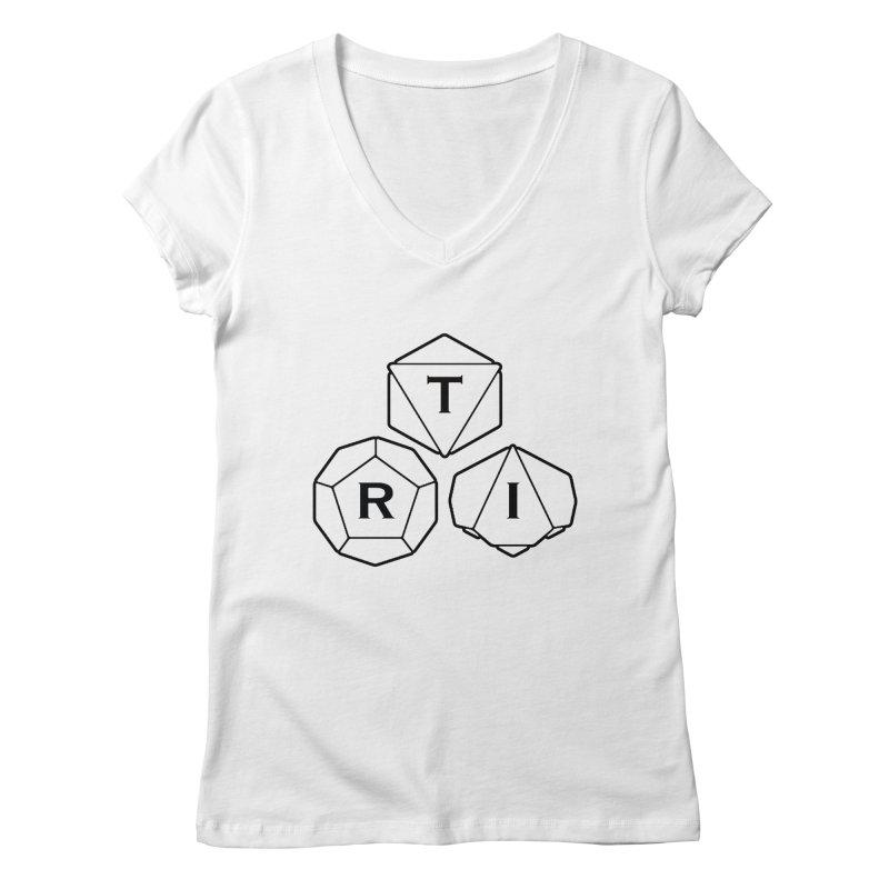 TRI Black Logo Women's Regular V-Neck by The Role Initiative's Artist Shop