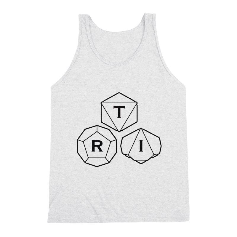 TRI Black Logo Men's Triblend Tank by The Role Initiative's Artist Shop