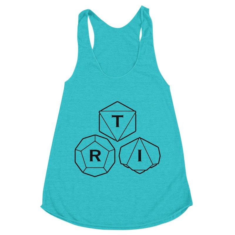 TRI Black Logo Women's Racerback Triblend Tank by The Role Initiative's Artist Shop