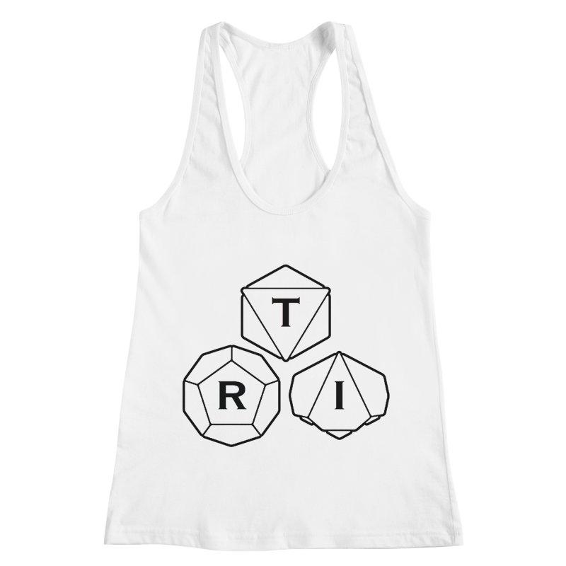 TRI Black Logo Women's Racerback Tank by The Role Initiative's Artist Shop