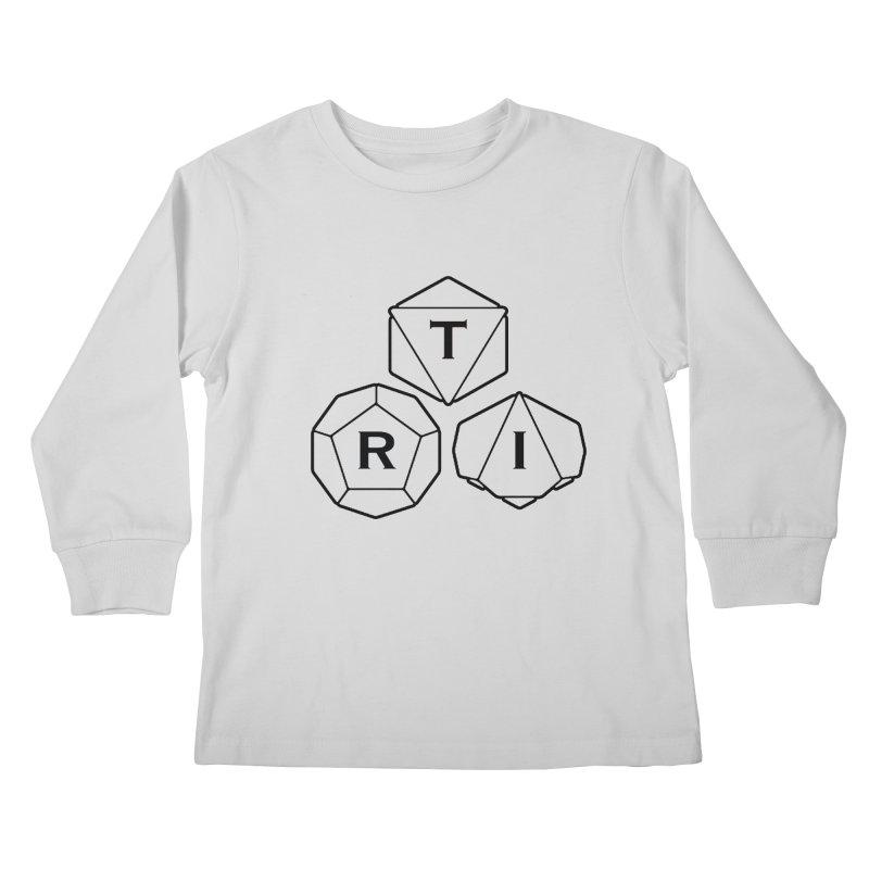 TRI Black Logo Kids Longsleeve T-Shirt by The Role Initiative's Artist Shop