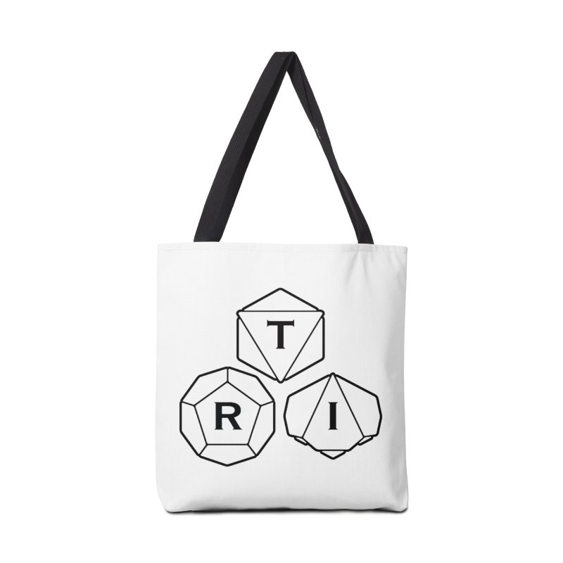 TRI Black Logo Accessories Tote Bag Bag by The Role Initiative's Artist Shop