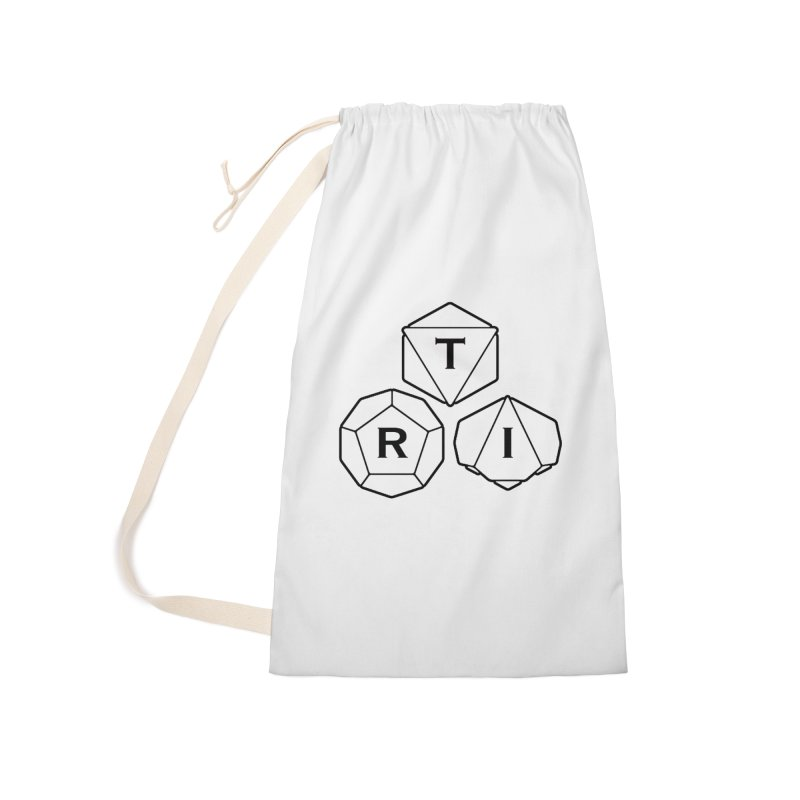 TRI Black Logo Accessories Laundry Bag Bag by The Role Initiative's Artist Shop