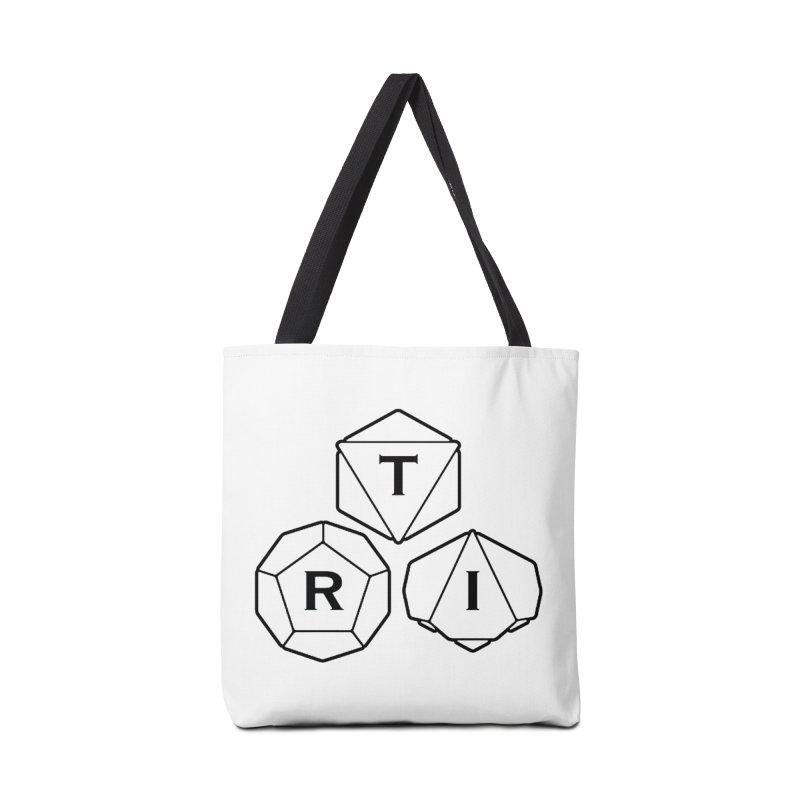 TRI Black Logo Accessories Bag by The Role Initiative's Artist Shop