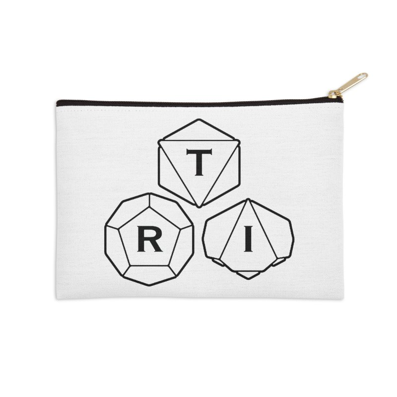 TRI Black Logo Accessories Zip Pouch by The Role Initiative's Artist Shop