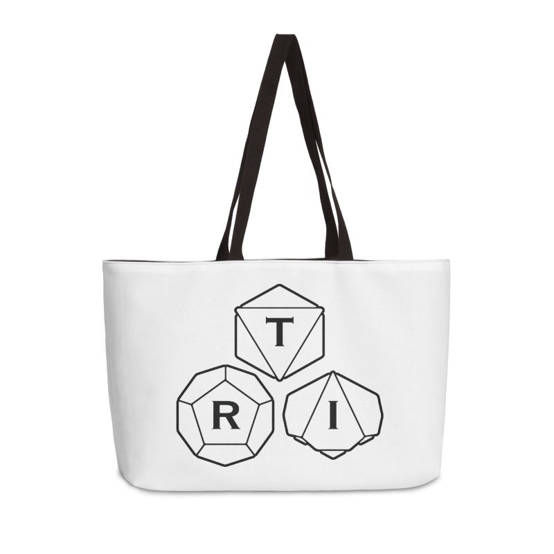 TRI Black Logo Accessories Weekender Bag Bag by The Role Initiative's Artist Shop