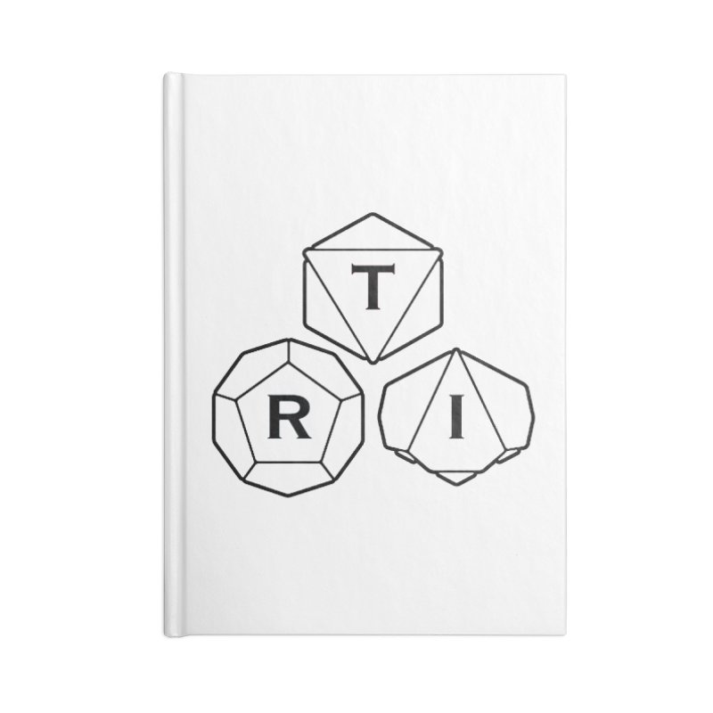 TRI Black Logo Accessories Blank Journal Notebook by The Role Initiative's Artist Shop