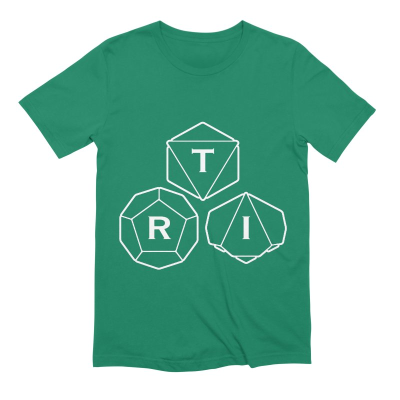 TRI White Logo Men's Extra Soft T-Shirt by The Role Initiative's Artist Shop