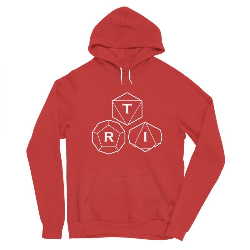 TRI White Logo Men's Sponge Fleece Pullover Hoody by The Role Initiative's Artist Shop