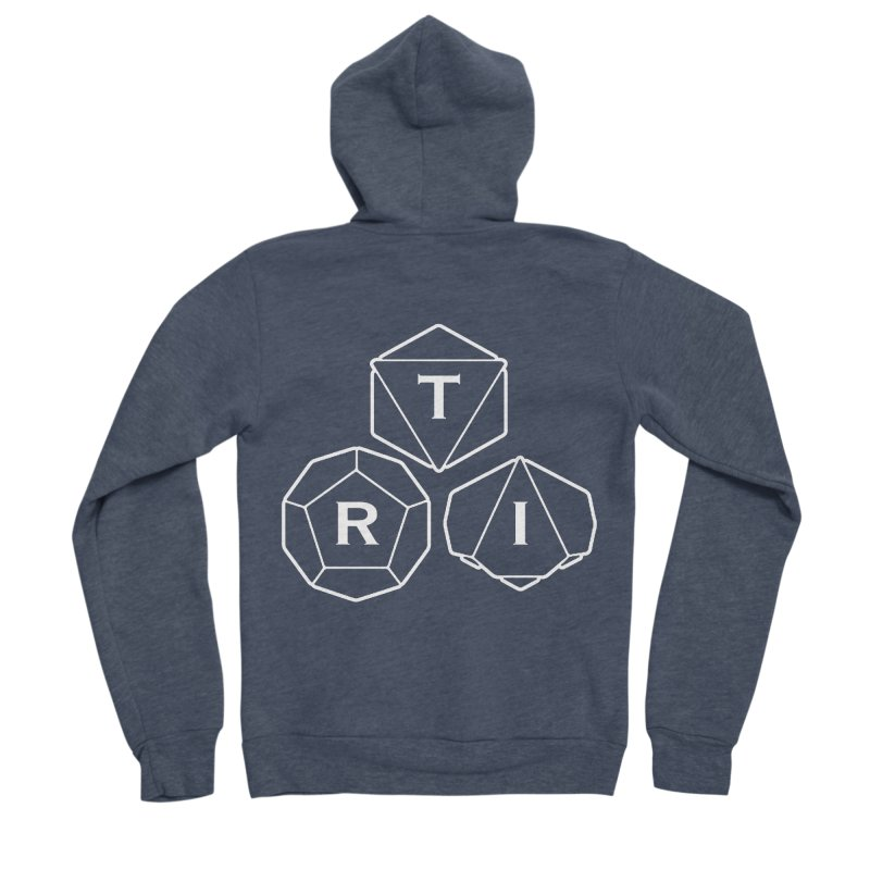 TRI White Logo Men's Sponge Fleece Zip-Up Hoody by The Role Initiative's Artist Shop