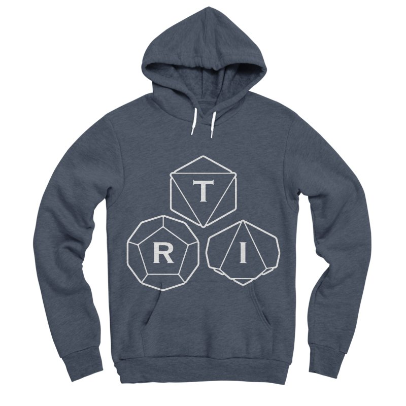 TRI White Logo Women's Sponge Fleece Pullover Hoody by The Role Initiative's Artist Shop