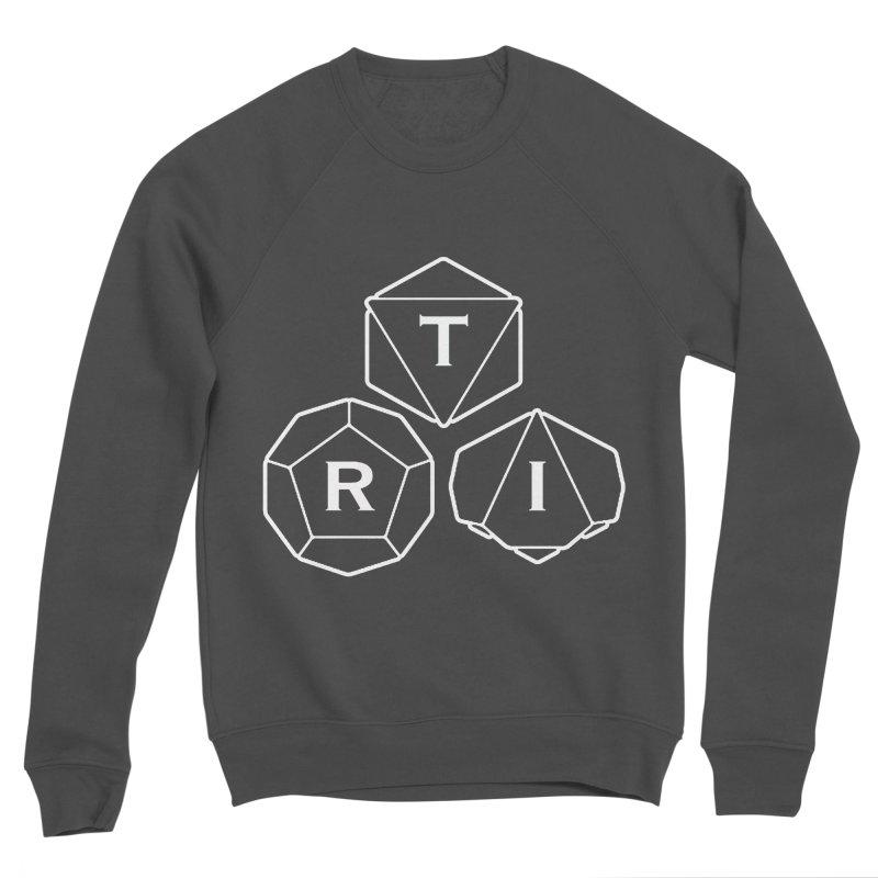 TRI White Logo Men's Sponge Fleece Sweatshirt by The Role Initiative's Artist Shop