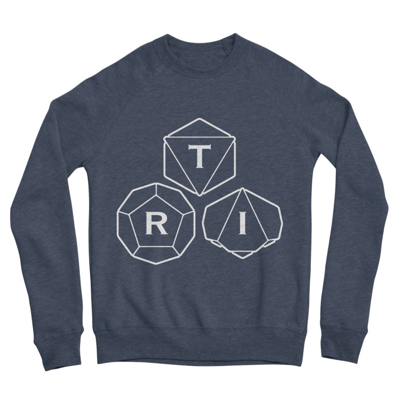TRI White Logo Women's Sponge Fleece Sweatshirt by The Role Initiative's Artist Shop