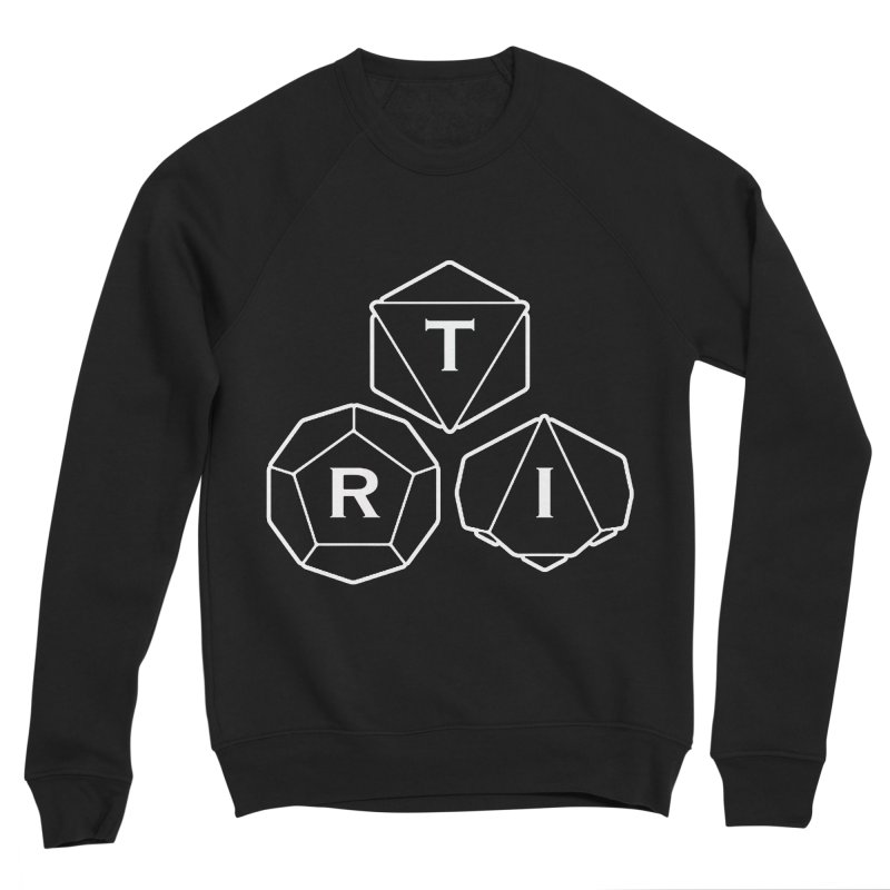 TRI White Logo Women's Sponge Fleece Sweatshirt by The Role Initiative's Artist Shop