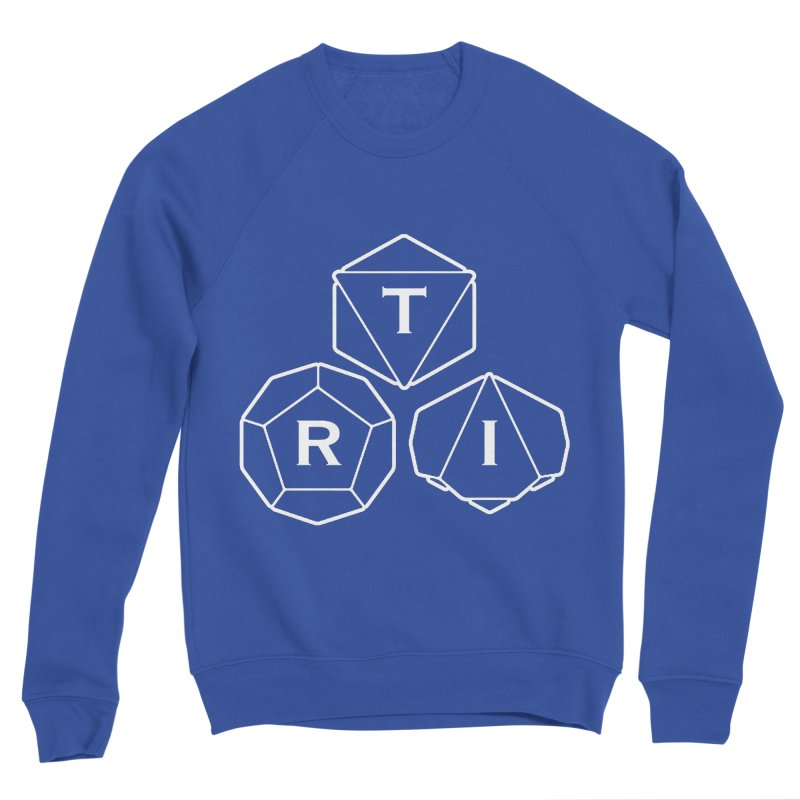 TRI White Logo Men's Sponge Fleece Sweatshirt by The Role Initiative's Artist Shop