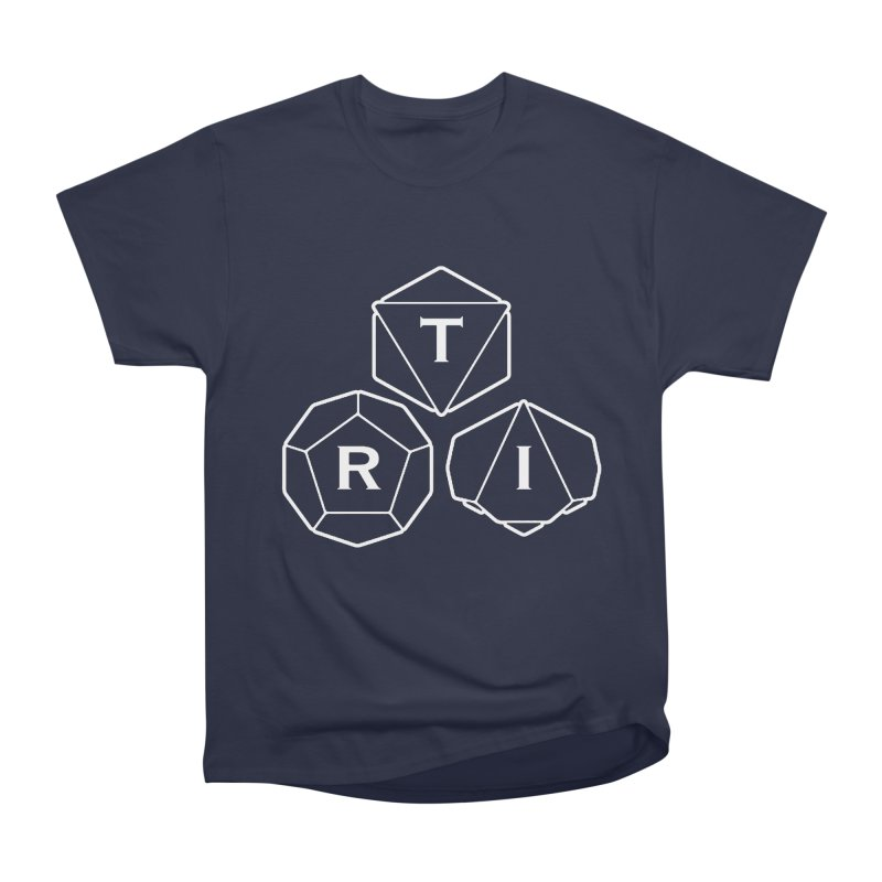 TRI White Logo Women's Heavyweight Unisex T-Shirt by The Role Initiative's Artist Shop