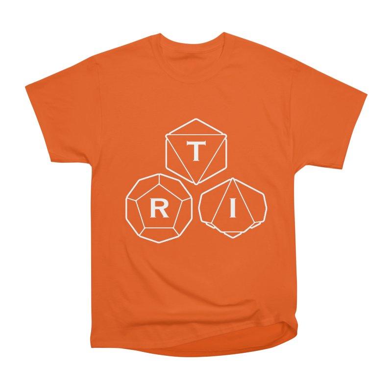 TRI White Logo Men's Heavyweight T-Shirt by The Role Initiative's Artist Shop