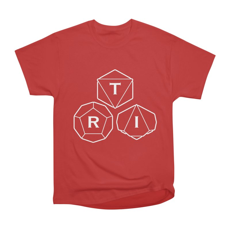 TRI White Logo Men's Heavyweight T-Shirt by The Role Initiative's Artist Shop