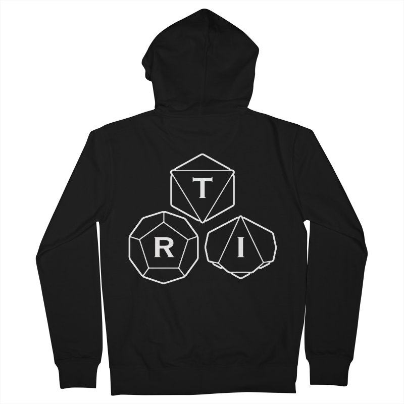 TRI White Logo Women's French Terry Zip-Up Hoody by The Role Initiative's Artist Shop
